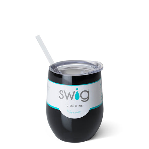 SWIG - Black 12oz Stemless Wine Cup