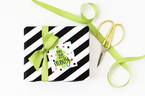 When it Rains Paper Co. - Polka Dot Christmas Gift Tag