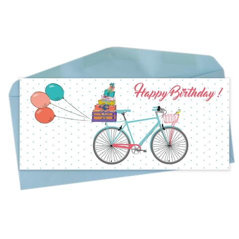 "Lili Graffiti ""BICYCLE""  Happy Birthday Greeting Card"