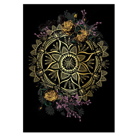 PAPAYA! - Greeting Card - Golden Mandala