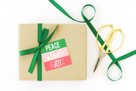 When it Rains Paper Co. - Peace Love Joy Christmas Gift Tag