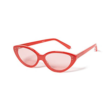 ELIZABETH AND JAMES 'Frey' Red and Smoky Rose Lens Cat Eye Sunglasses
