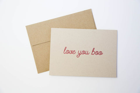 GOODS THAT MATTER 'Love You Boo' Greeting Card