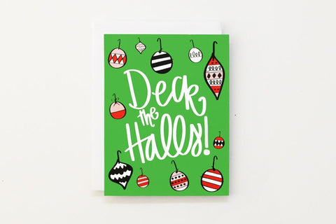 When it Rains Paper Co. - Deck The Halls Holiday Card - Box of 8