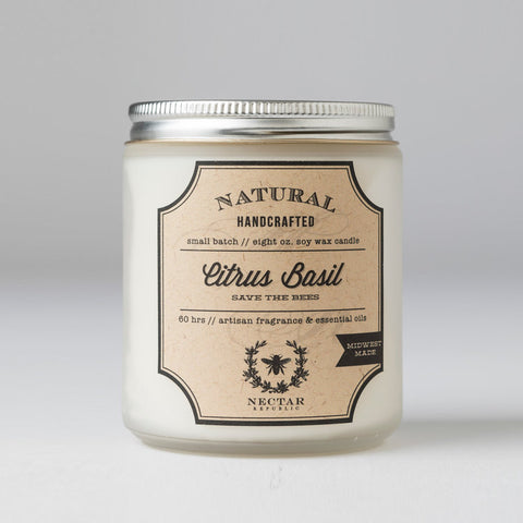 Nectar Republic - Citrus Basil : Candle
