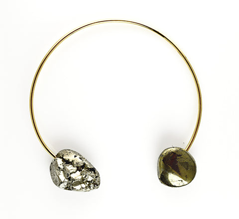 "SERAPHINE DESIGN ""PYRITE"" Gold Collar Necklace"