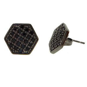 NYLA*STAR 'Pave' Hexagon Stud Earrings
