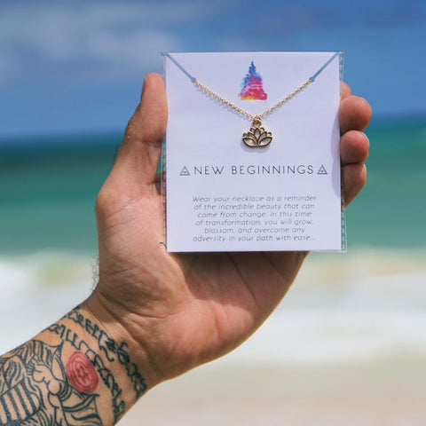 """New Beginnings"" Affirmation Necklace"