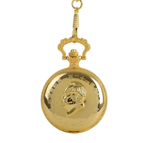 Gold Plated Mao Zedong Pocketwatch
