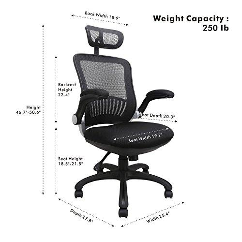 Excellent Komene Ergonomic Adjustable Office Chair With Adjustable Headrest Black Dailytribune Chair Design For Home Dailytribuneorg