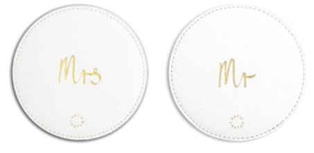 Mr and Mrs Coaster Set