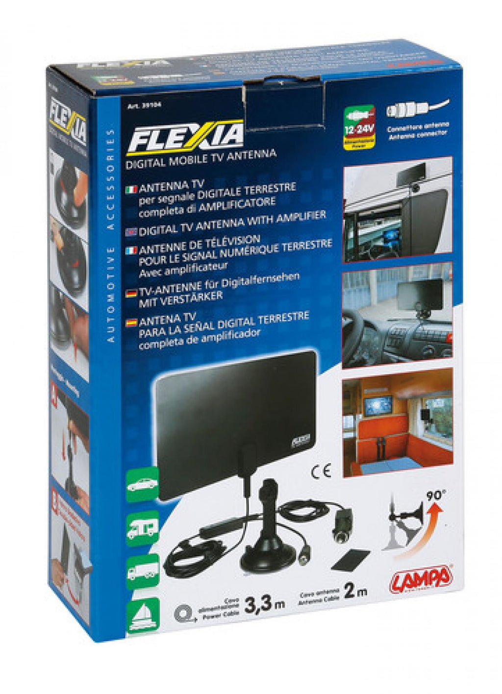 Flexia Digitale TV Antenne 12/24 V - truck-shopping.it