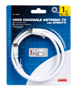 Antenna TV via cavo - 1 mt - truck-shopping.it