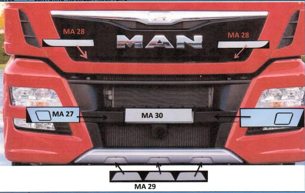 Man TGX Abdeckplatten Euro 6 - truck-shopping.it