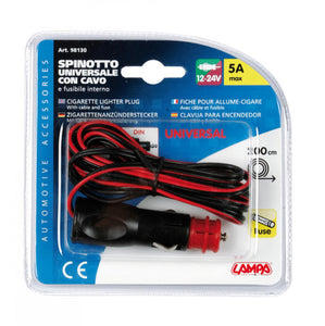 Universeller Zigarettenanzünderstecker mit 12 / 24V Kabel - truck-shopping.it