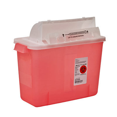 Covidien 8534SA - 2 Gallon SharpStar™ In-Room™ Sharps Container with Counter Balanced Lid (2 Gallon)