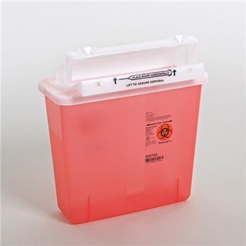 Covidien - SharpStar™ In-Room™ Sharps Container with Counter Balanced Lid (5 Quart)