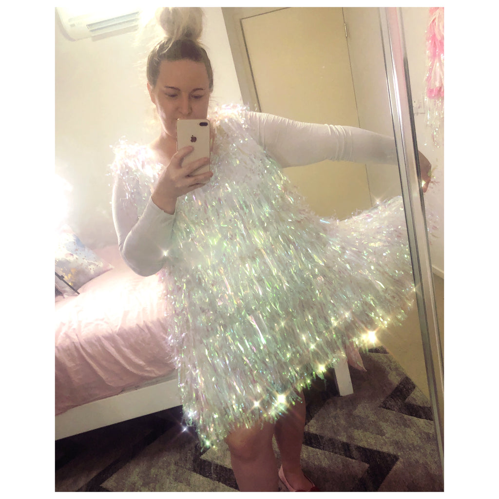 crystal tinsel tutu