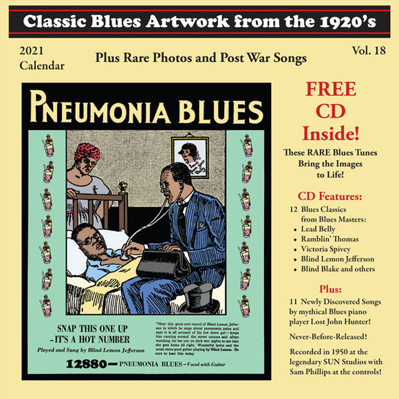 2021 Calendar with classic artwork from the 1920s - by Blues Images