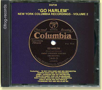 GO HARLEM New York Columbia Recordings - Volume 2
