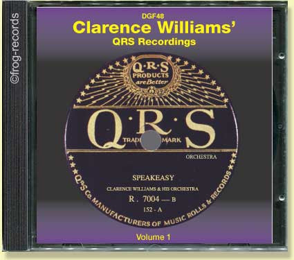 Clarence Williams QRS  Recordings 1