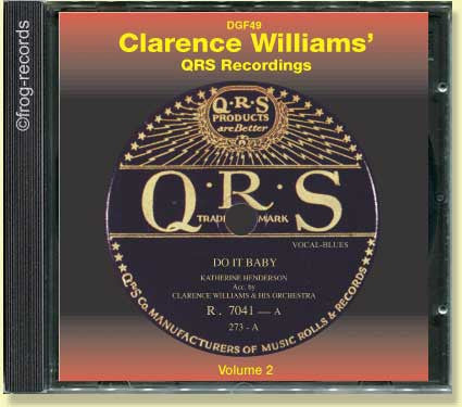 Clarence Williams QRS Recordings 2