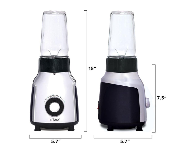 Tribest Glass Personal Blender Dimensions