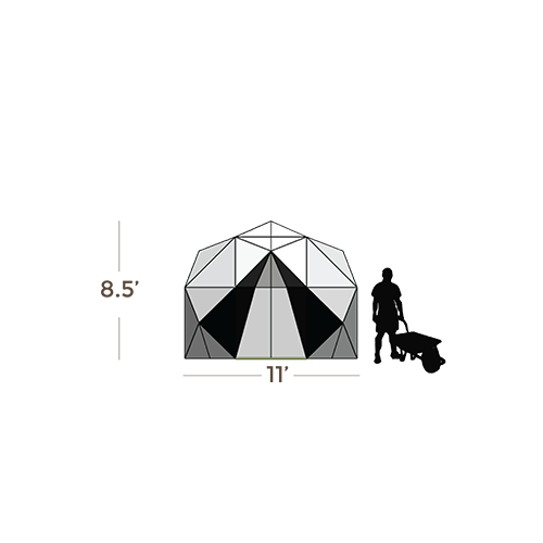 Harvest Right Geodesic Greenhouse - 11 Feet - 98 Sq. Ft.