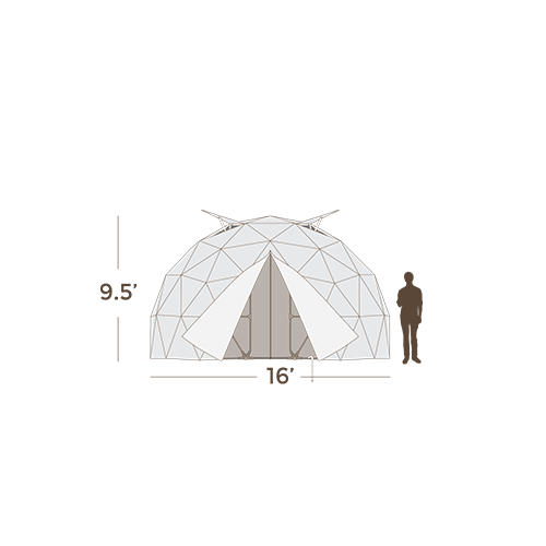 Garden Right Geodesic Greenhouse - Dimensions