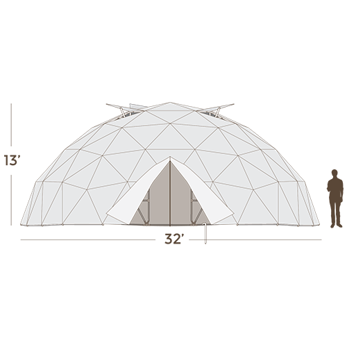 Harvest Right Geodesic Greenhouse - 32 Feet - 775 Sq. Ft.