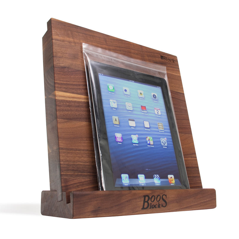 "John Boos® iBlock Cutting Board & Stand, Walnut, 12"" x 12"""