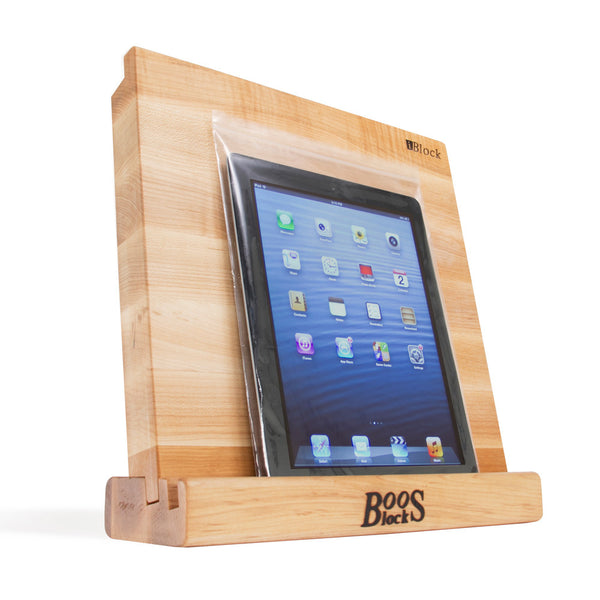 "John Boos® iBlock Cutting Board & Stand, Maple, 12"" x 12"""
