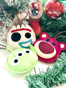 TOY STORY TRIO ORNAMENTS SET