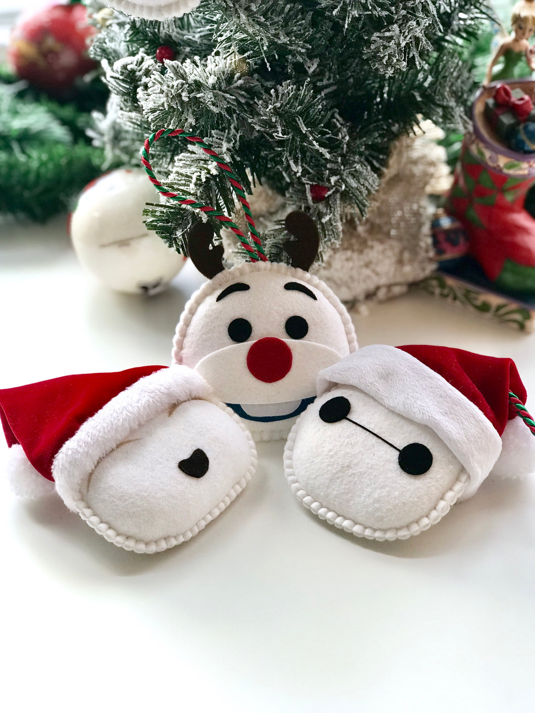 WHITE CHRISTMAS TRIO ORNAMENTS SET