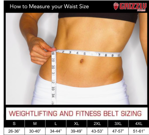 power weight lifting belt sizing chart