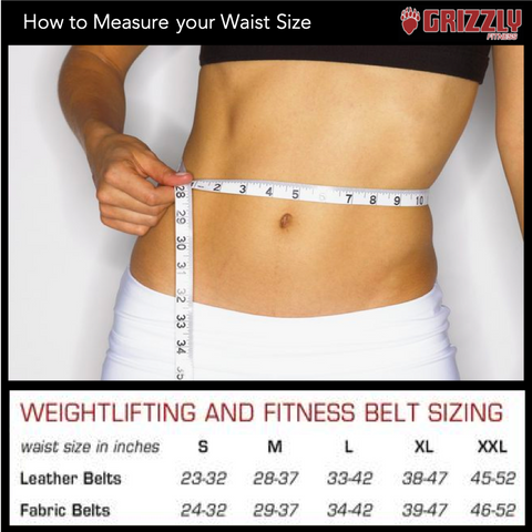 how to measure waist size chart