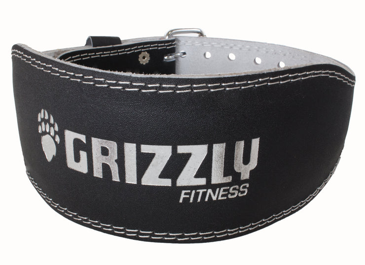 Grizzly Fitness Pacesetter Padded Genuine Leather Pro Weight Belt for Men and Women
