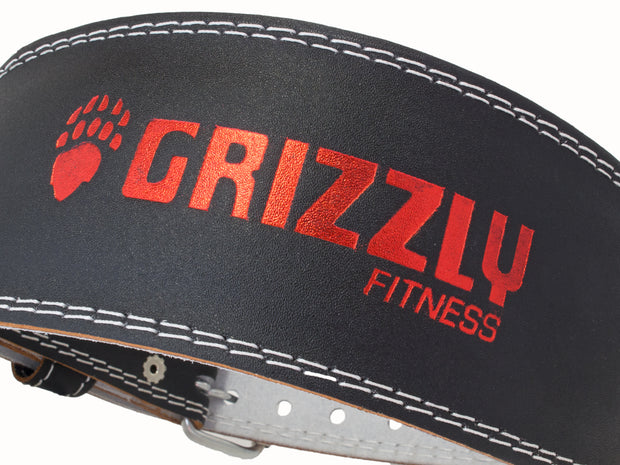 Grizzly Fitness Enforcer Padded Genuine Leather Pro Weight Belt for Men and Women