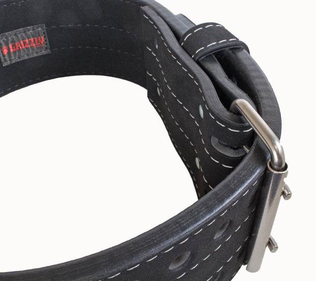 Grizzly Fitness Double Prong Pro Power Lifting Weight Belt for Men and Women