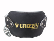 "Grizzly Fitness Leather Pro Dip and Pull Up Weight Training Belt with 36"" Chain for Men and Women (One-Size)"