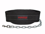 "Grizzly Fitness Woven Nylon Pro Dip and Pull Up Belt with 36"" Chain"