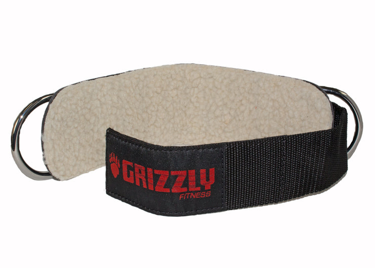 "Grizzly Fitness Premium 3"" Padded Leather Ankle Straps for Men and Women (One-Size Pair)"