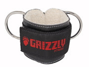 "Grizzly Fitness Premium 3"" Padded Leather Ankle Strap for Men and Women (One-Size Single)"