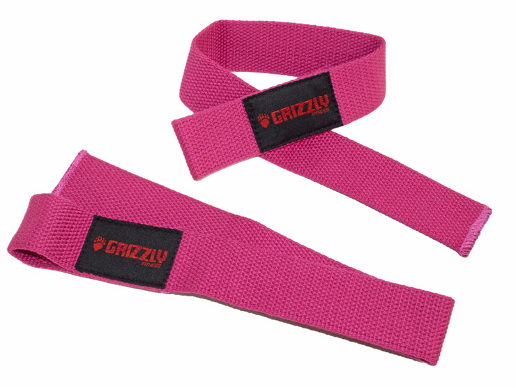 Grizzly Fitness Cotton and Nylon Weight Lifting Wrist Straps for Men and Women (One-Size Pair)