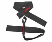 Grizzly Fitness Padded Cotton and Nylon Weight Lifting Wrist Straps for Men and Women (One-Size Pair)