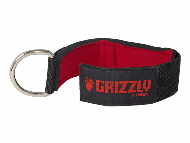 "Grizzly Fitness Premium 2"" Padded Neoprene Ankle Strap for Men and Women (One-Size Single)"