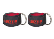 "Grizzly Fitness Premium 2"" Padded Neoprene Ankle Straps for Men and Women (One-Size Pair)"