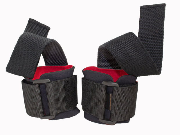 Grizzly Fitness Deluxe Weight Lifting Straps with Wrist Wraps for Men and Women (One Size Pair)