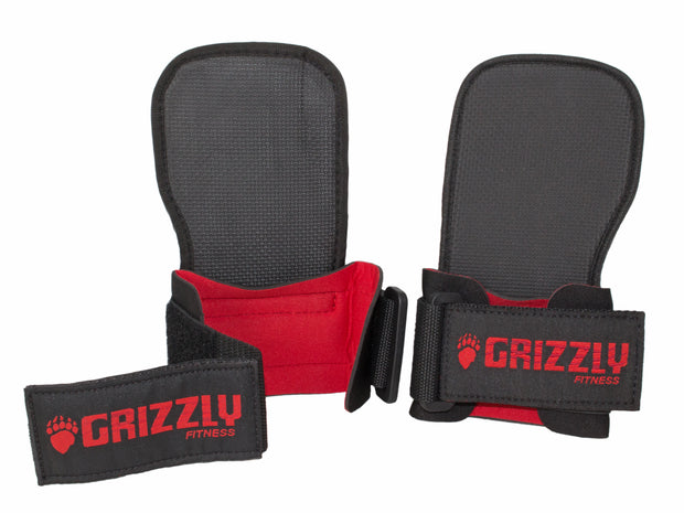 Grizzly Grabbers Weight Lifting Wrist Wraps with Grab Pads for Men and Women (Pair)