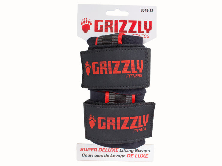 Grizzly Fitness Super Grip Deluxe Pro Weight Lifting Straps with Wrist Wraps for Men and Women (One-Size Pair)